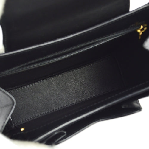 Cartier Panther Logos Hand Bag Black