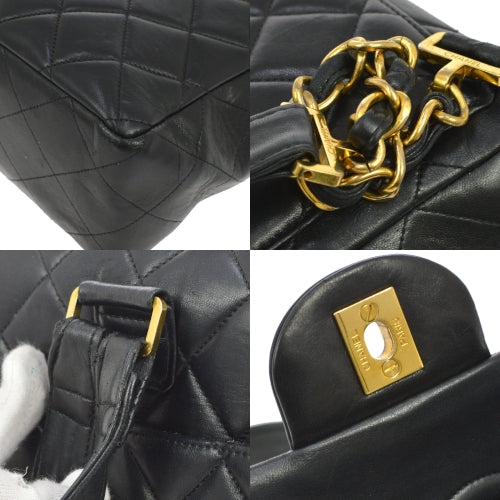 CHANEL Quilted CC Chain Backpack Bag Black