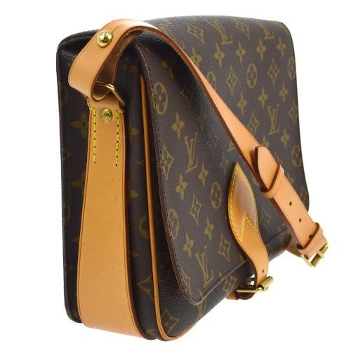 LOUIS VUITTON CARTOUCHIERE GM SHOULDER BAG MONOGRAM M51252