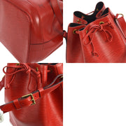 LOUIS VUITTON NOE DRAWSTRING SHOULDER BAG RED EPI LEATHER M44007