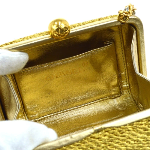 CHANEL CC Single Chain Shoulder Bag Gold