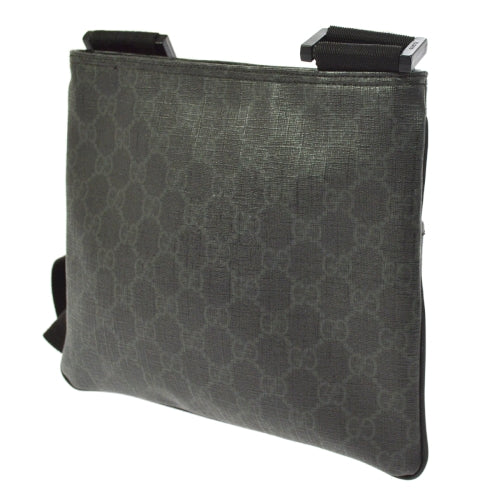GUCCI GG Pattern Cross Body Shoulder Bag Black
