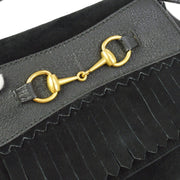 GUCCI Horsebit Cross Body Shoulder Bum Bag Black