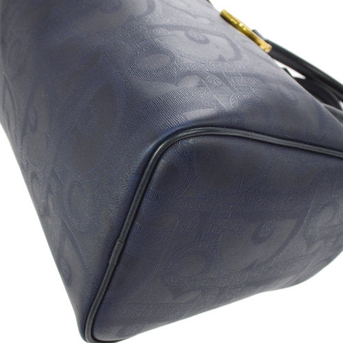 Christian Dior Trotter Pattern Hand Bag Navy