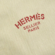 HERMES Aline Logos Shoulder Bag Ivory Red Cotton