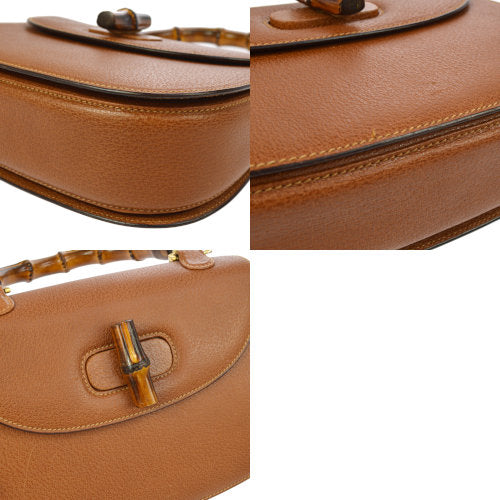 GUCCI Bamboo Line Hand Bag Brown