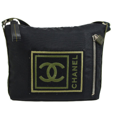 CHANEL Sport Line Cross Body Shoulder Bag Black