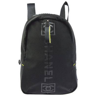 CHANEL Sports Line CC Backpack Hand Bag Black Green