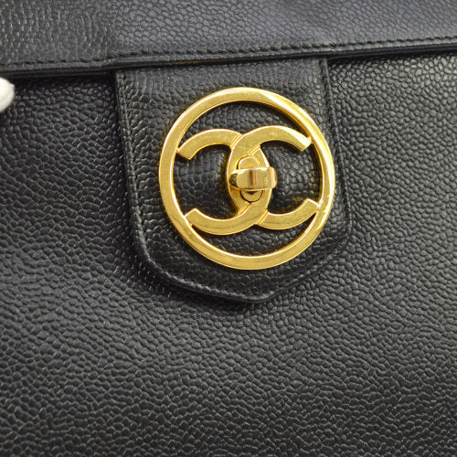 CHANEL 2way Vanity Bag Black Caviar Skin from 1992