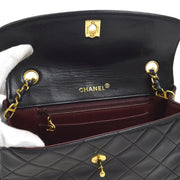 CHANEL Quilted CC Single Chain Shoulder Bag Black