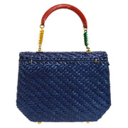 FENDI Busket Bag Hand Bag Tri-Color Coated Bamboo