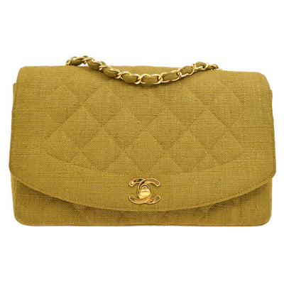 CHANEL Quilted CC Single Chain Shoulder Bag Brown