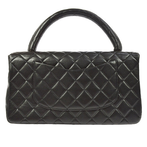 CHANEL Quilted CC Logos Chain Hand Bag Black
