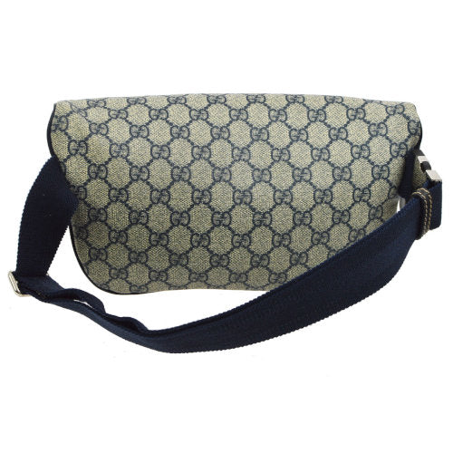 GUCCI GG Pattern Waist Bum Bag Navy Gray