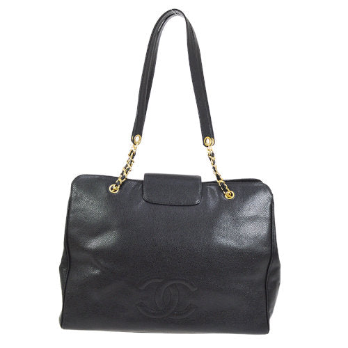 CHANEL Super Model Jumbo XL CC Chain Shoulder Bag Black