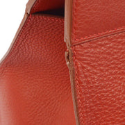 HERMES MUSEAU Shoulder Tote Bag Red Taurillon Clemence