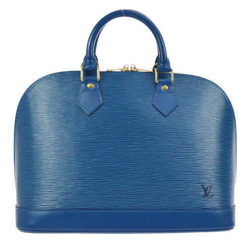LOUIS VUITTON ALMA HAND BAG BLUE EPI LEATHER M52145