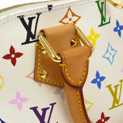 LOUIS VUITTON Alma Hand Bag Monogram White Multi-Color M92647