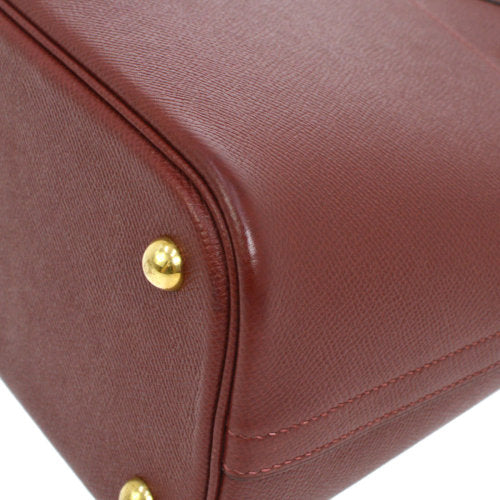 HERMES BOLIDE 31 2way Hand Bag Bordeaux Couchevel