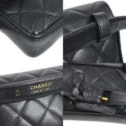 CHANEL Quilted CC Waist Bum Bag Black
