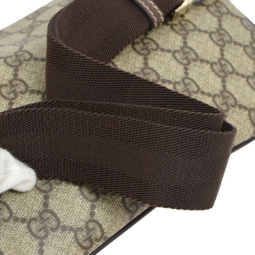 GUCCI GG Pattern Waist Bum Bag Brown