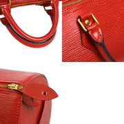 LOUIS VUITTON Speedy 35 Hand Bag Red Epi M42997