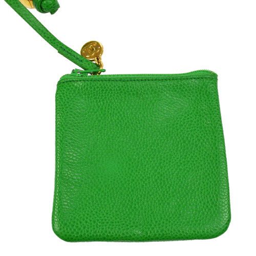 CHANEL CC Drawstring Chain Shoulder Bag Green