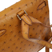 HERMES KELLY ADO PM Backpack Ostrich Brown