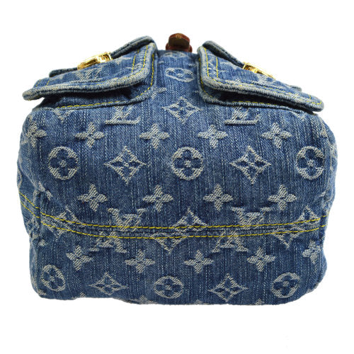 LOUIS VUITTON SAC A DOS PM BACKPACK BLUE MONOGRAM DENIM M95057