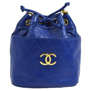 CHANEL Cosmos Line CC Drawstring Chain Shoulder Bag Blue