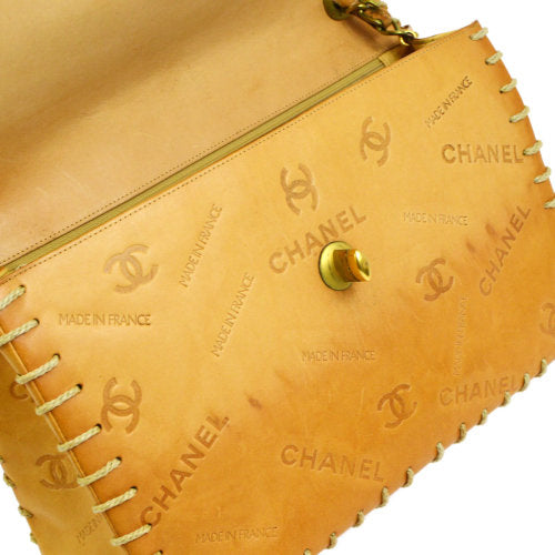 CHANEL Classic Flap Maxi Shoulder Bag Beige