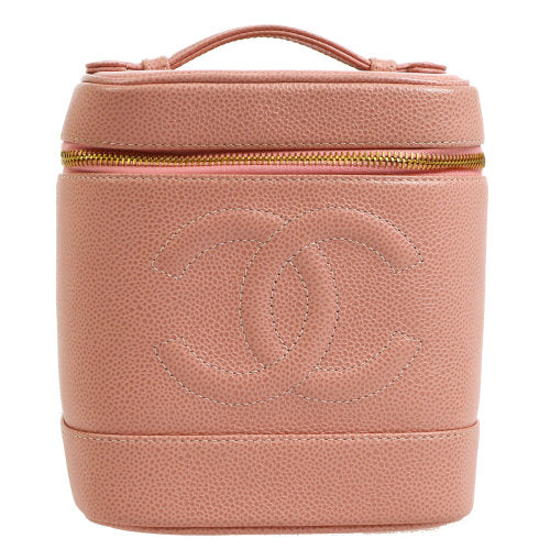 CHANEL CC Cosmetic Vanity Hand Bag Pink