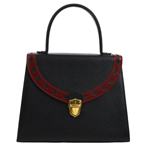 Yves Saint Laurent 2way Hand Bag Black Red