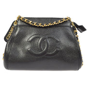 CHANEL CC Single Chain Shoulder Bag Black