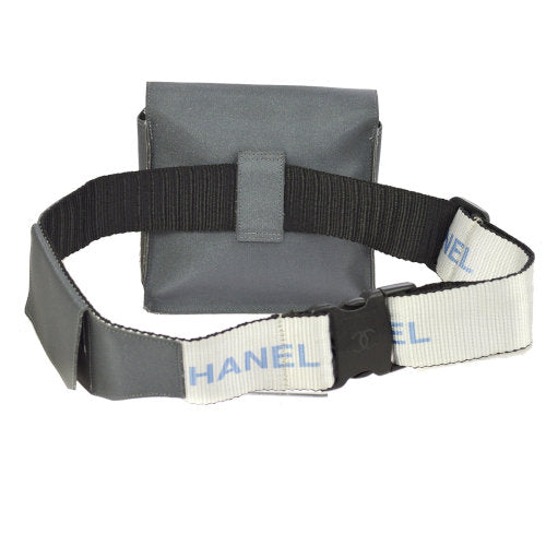 CHANEL Sport Line Bum Bag Waist Pouch Gray