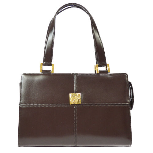 YVES SAINT LAURENT Logos Hand Bag Brown