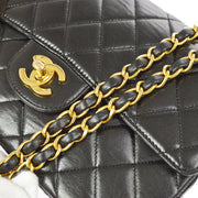 CHANEL Quilted Both Sides Flap Classic Small Shoulder Bag Black