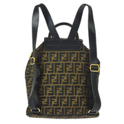 FENDI Zucca Pattern Backpack Hand Bag Brown Black