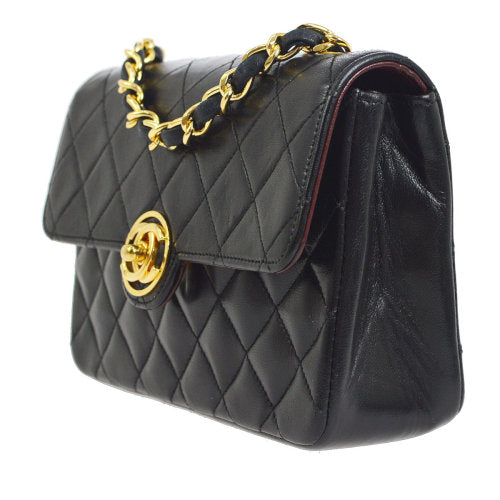 CHANEL Quilted Classic Flap Micro Shoulder Bag Black