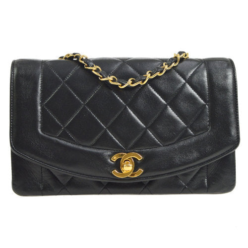 CHANEL Diana Small Single Chain Shoulder Bag Black