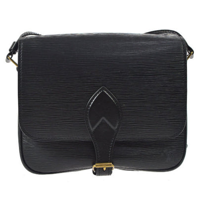 LOUIS VUITTON CARTOUCHIERE CROSS BODY SHOULDER BAG BLACK EPI M52242