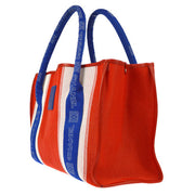 CHANEL Sports Line CC Marine Look Hand Bag Red Blue
