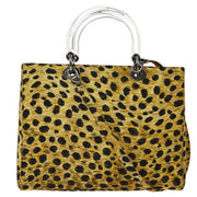 Christian Dior Lady Dior Leopard 2way Hand Bag Brown
