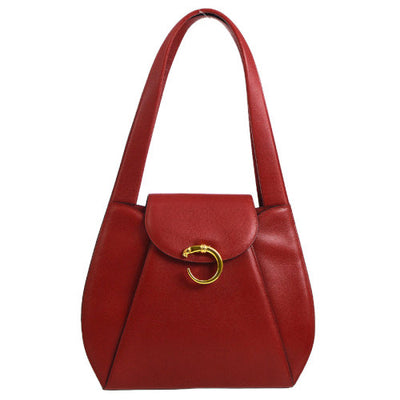 Cartier Panther Logos Shoulder Bag Red