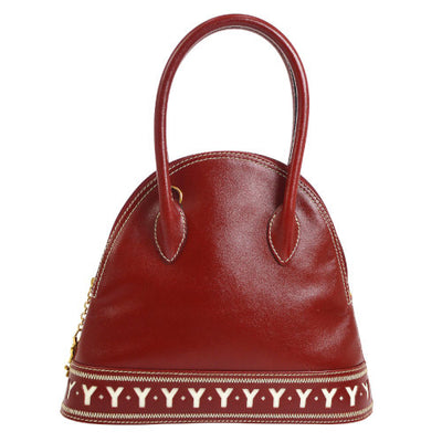 Yves Saint Laurent 2way Hand Bag Red White
