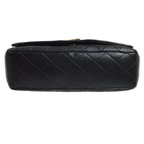 CHANEL Quilted CC Jumbo Single Chain Shoulder Bag Black