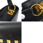 HERMES Sac Doggy Medor Shoulder Bag Black Box Calf
