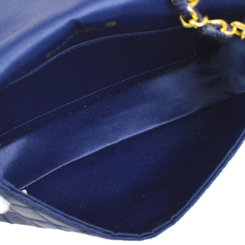 CHANEL Cosmos Line CC Single Chain Shoulder Bag Blue Satin