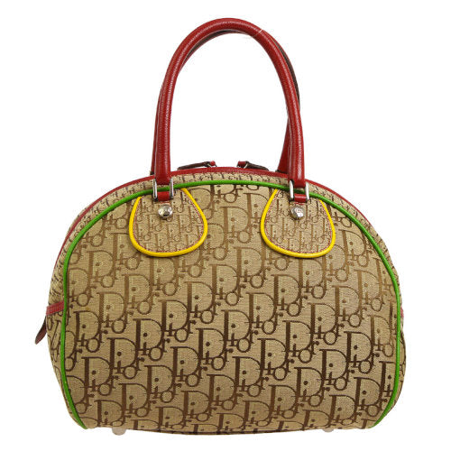 Christian Dior Trotter Hand Bag Rasta-Color Brown