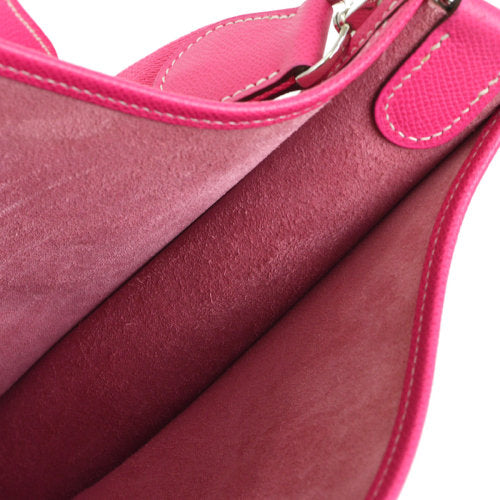 HERMES EVELYNE 3 PM Cross Body Shoulder Bag Pink Veau Epsom